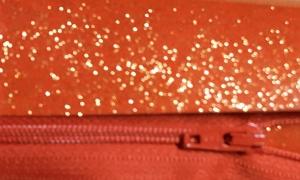 glitter vinyl orange